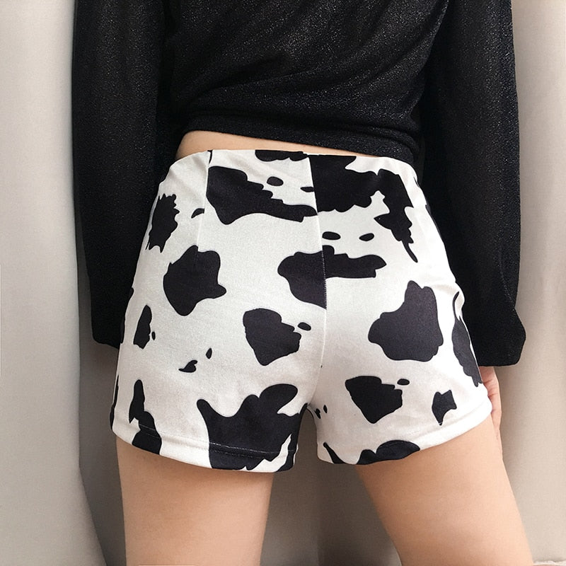 Cow High Waist Shorts