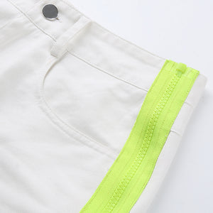 Neon Stripe Shorts