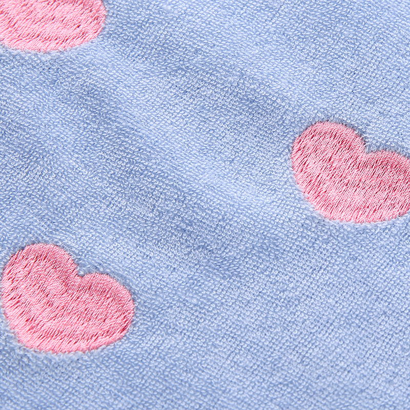 Blue Hearts Furry Top