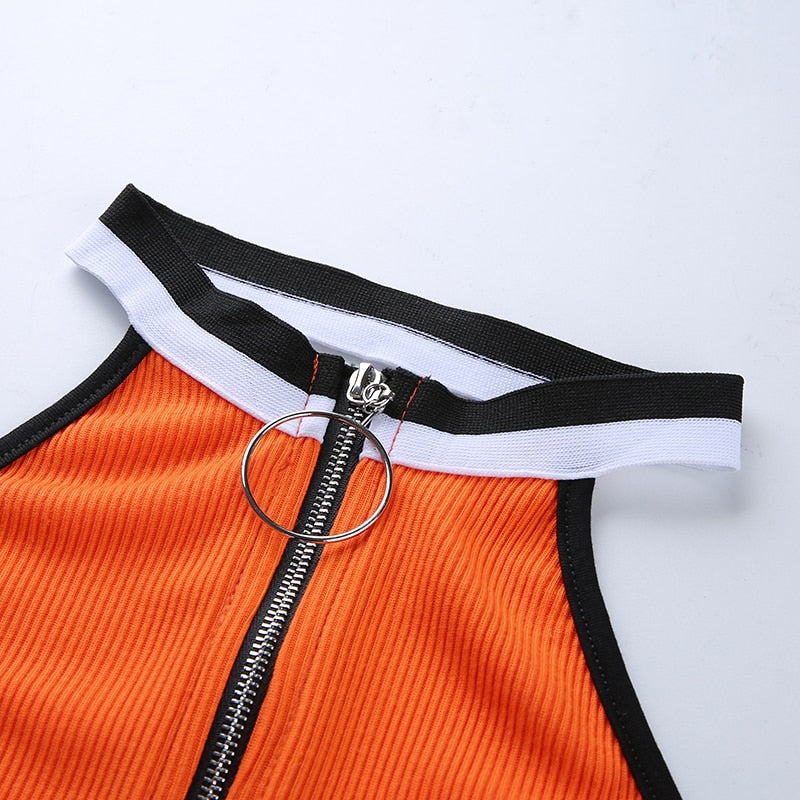 Neon Orange Halter Top