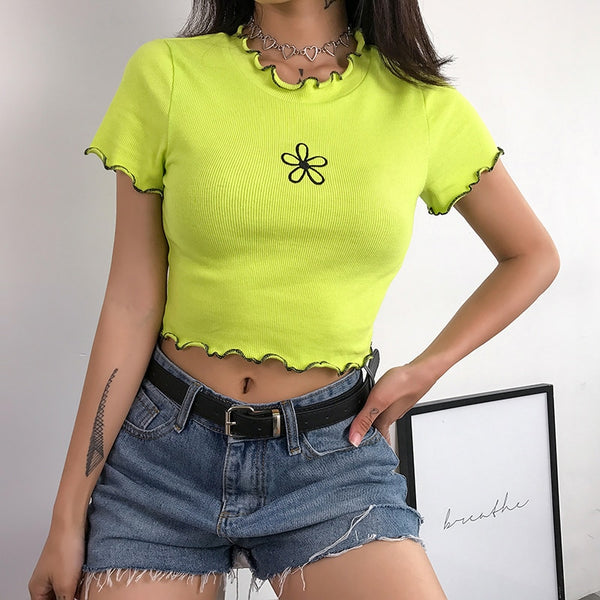 Lime Flower Top