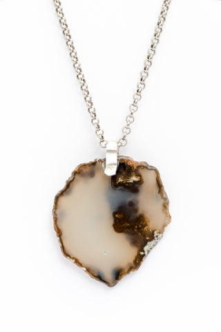Beautiful in Simplicity Black Agate Drop