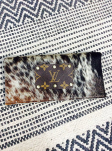 Carie Upcycled LV Credit Card Wallet