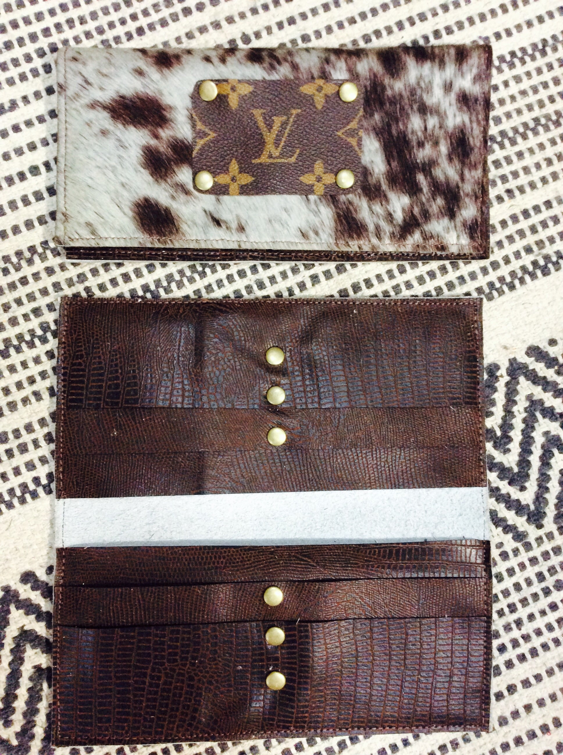 Campbell Upcycled LV Credit Card Wallet