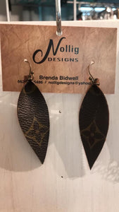 River Upcycled LV earring