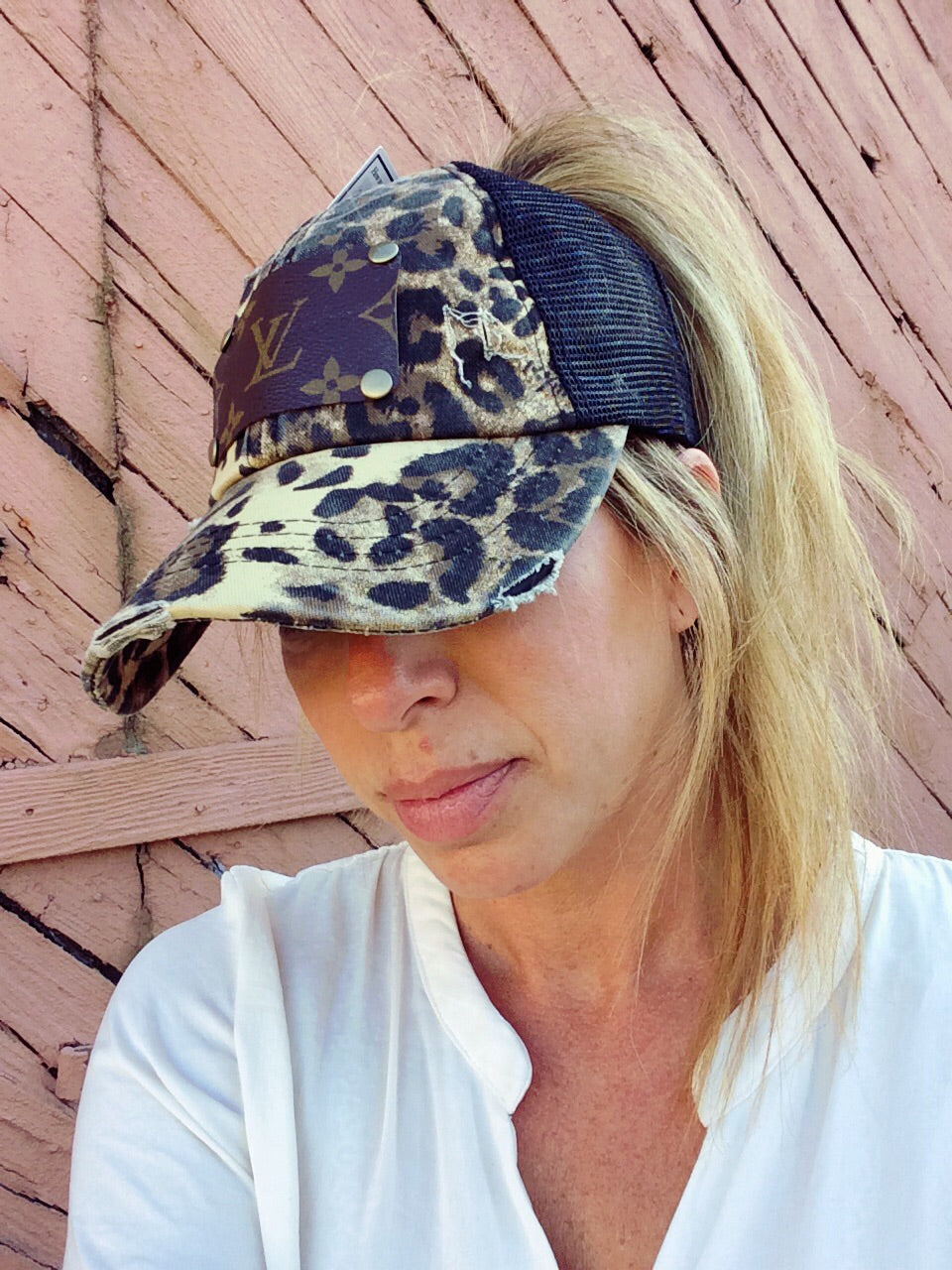 Madison Upcycled LV Criss Cross Cap