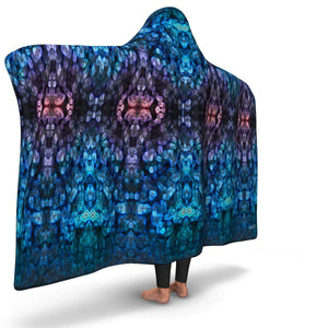 SEA ANEMONE PREMIUM HOODED BLANKET with WRIST STRAPS