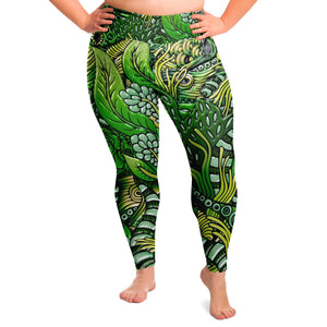 Petrichor Premium Plus Size Yoga Leggings - Manifestie