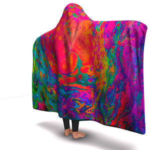 ACID WASH PREMIUM HOODED BLANKET with WRIST STRAPS