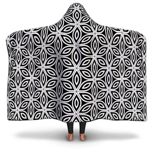 FLOWER OF LIFE PREMIUM HOODED BLANKET with Wrist Straps