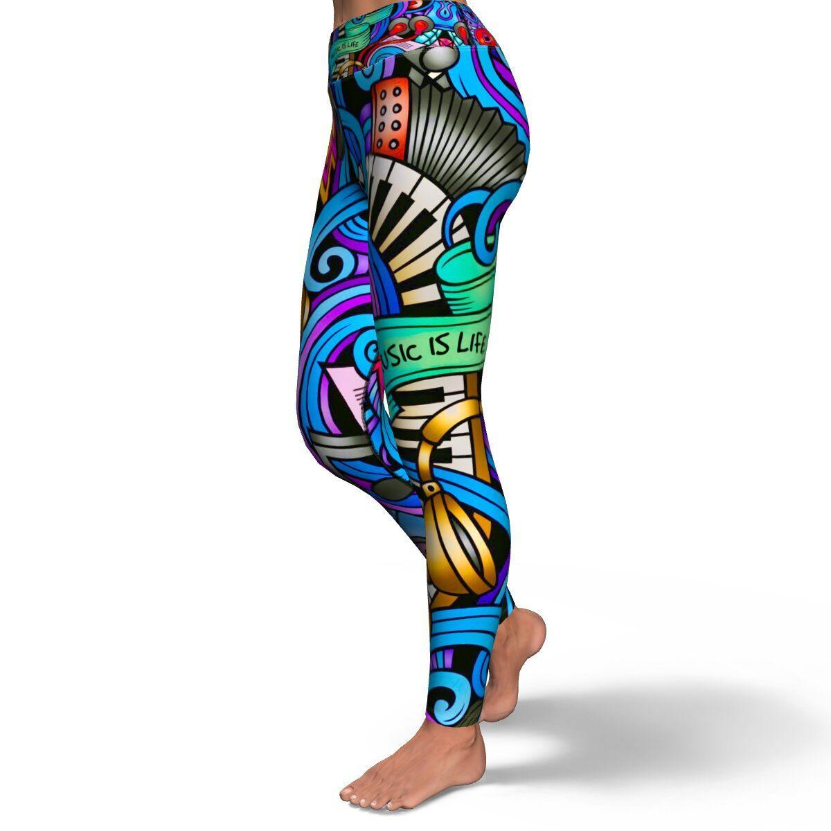 MUSIC IS LIFE PREMIUM YOGA LEGGINGS