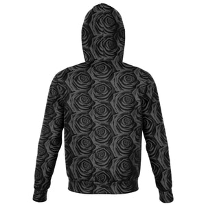 BLACK ROSES PREMIUM ZIP UP HOODIE