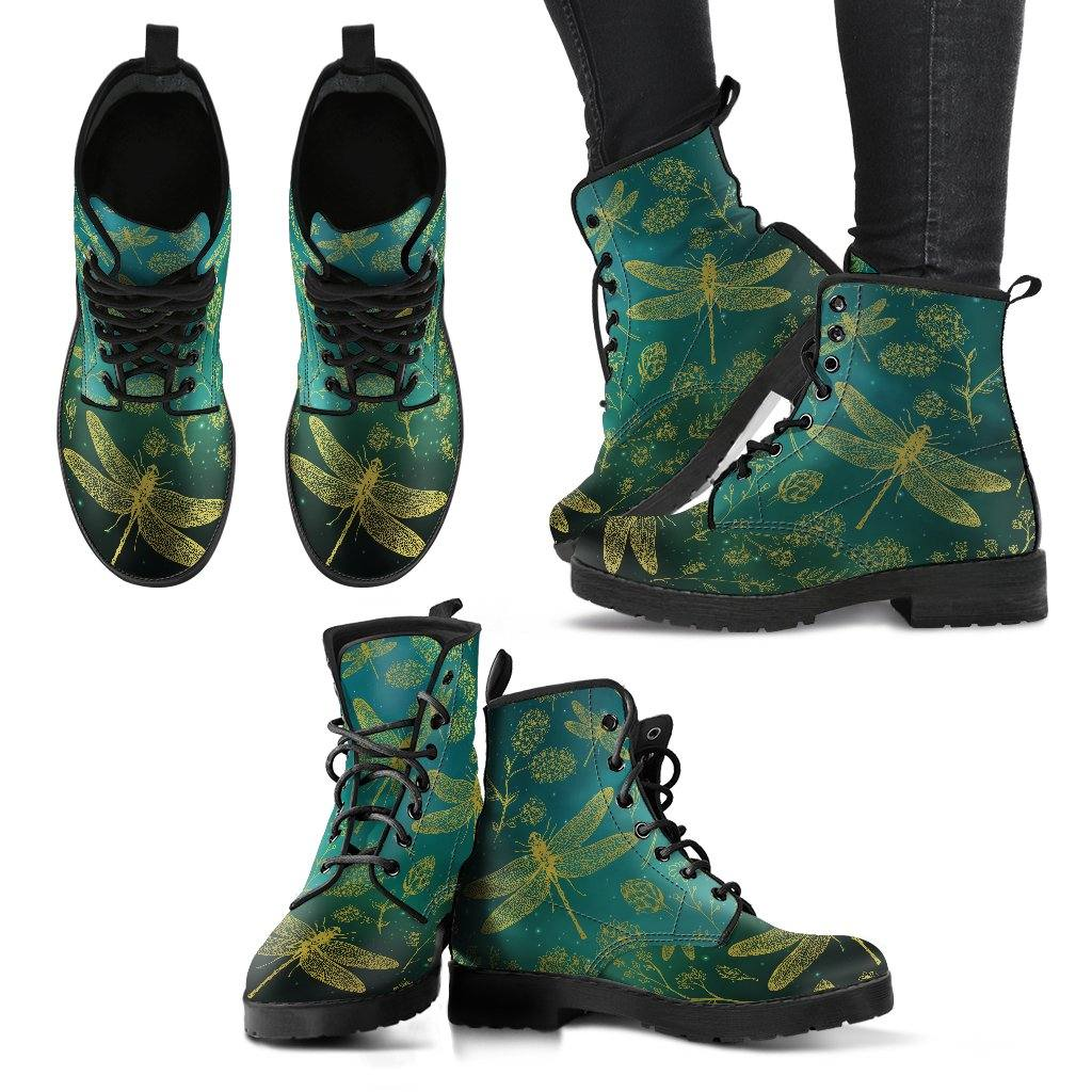Green Dragonfly Vegan Leather Boots