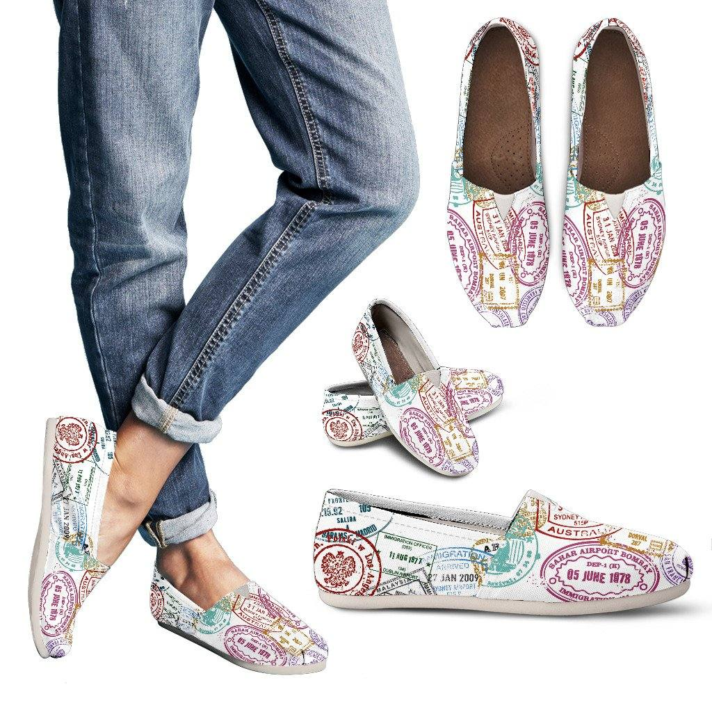 PASSPORT STAMPS Casual Slip On Shoes