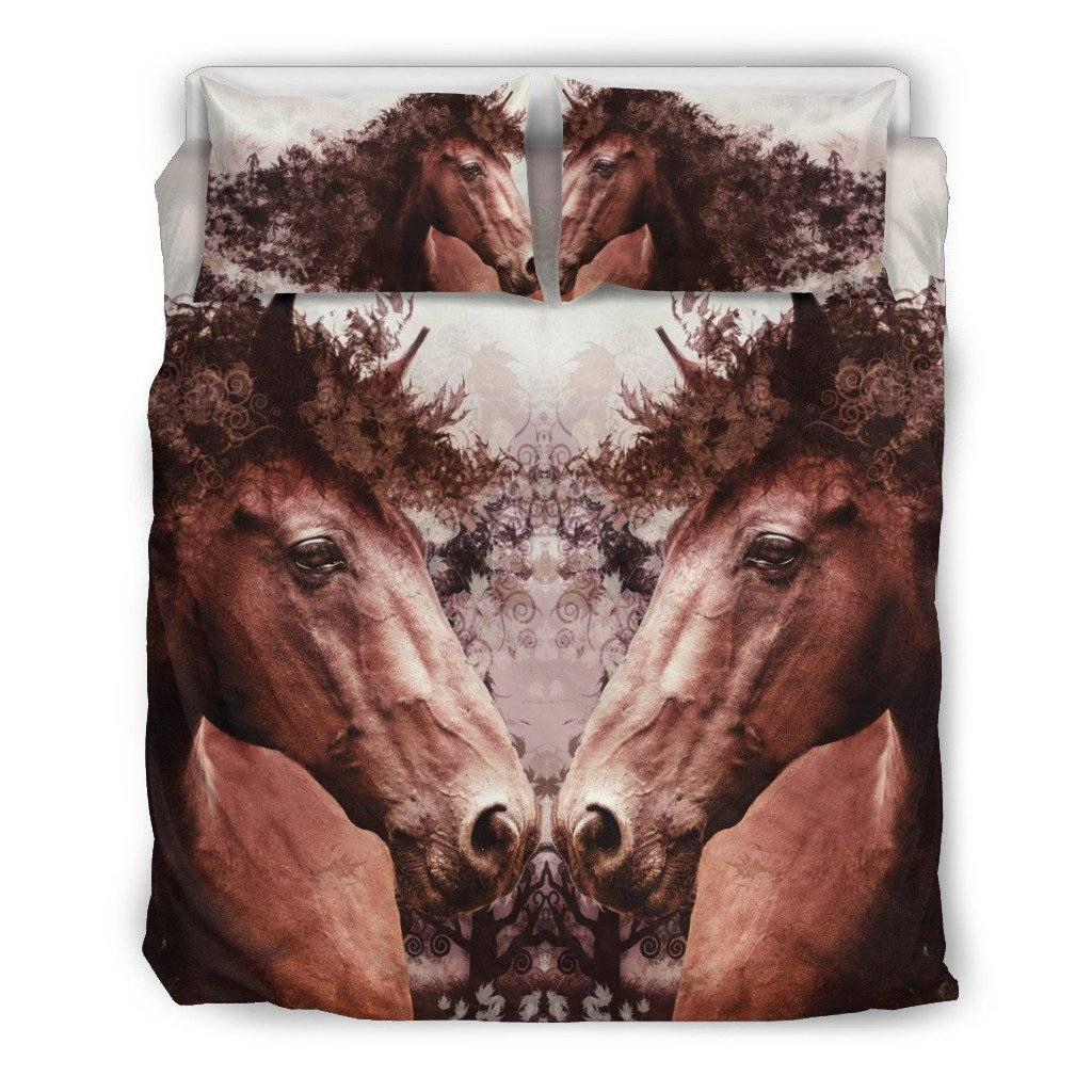 Horse of Nature Bedding Set | Duvet Cover, 2 Pillow Cases