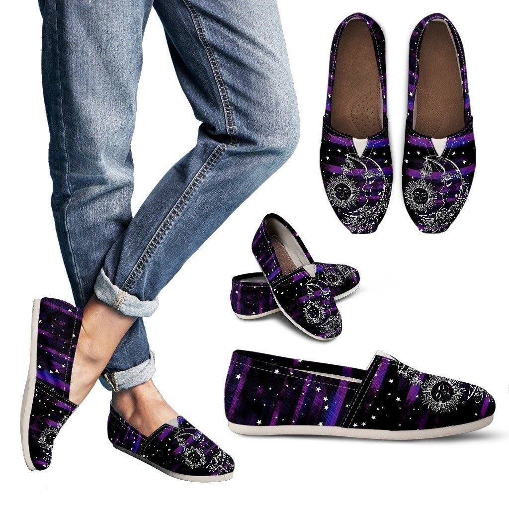 Sun and Moon Purple Casual Slip On Shoes