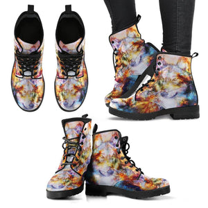 Galactic Wolf Vegan Leather Boots - Manifestie