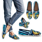Sun and Moon Blue Striped Casual Slip On Shoes