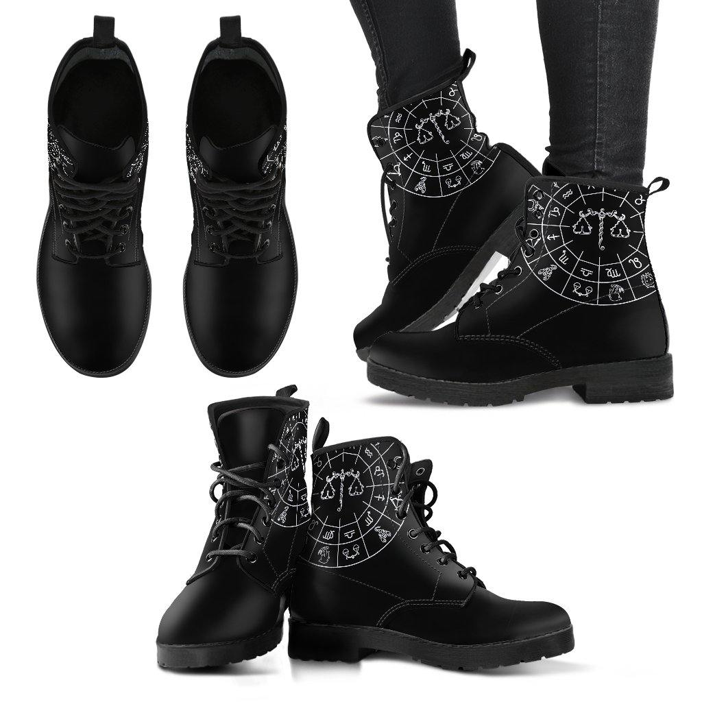 Libra Zodiac Vegan Leather Boots