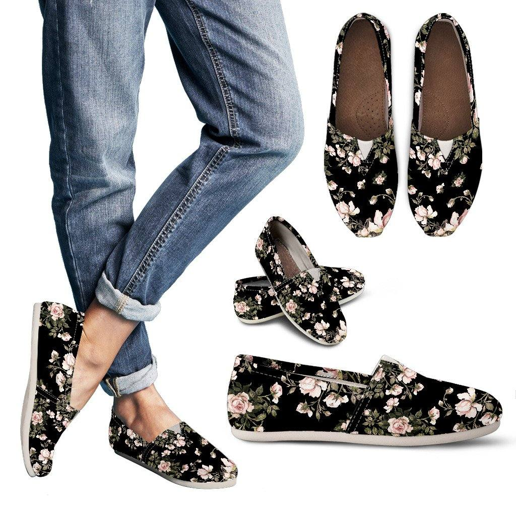 Floral Pattern Casual Slip On Shoes