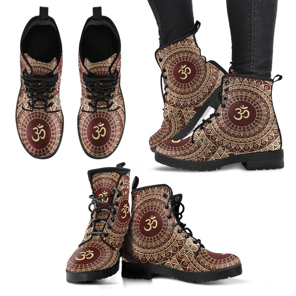 Ohm Mandala Vegan Leather Boots