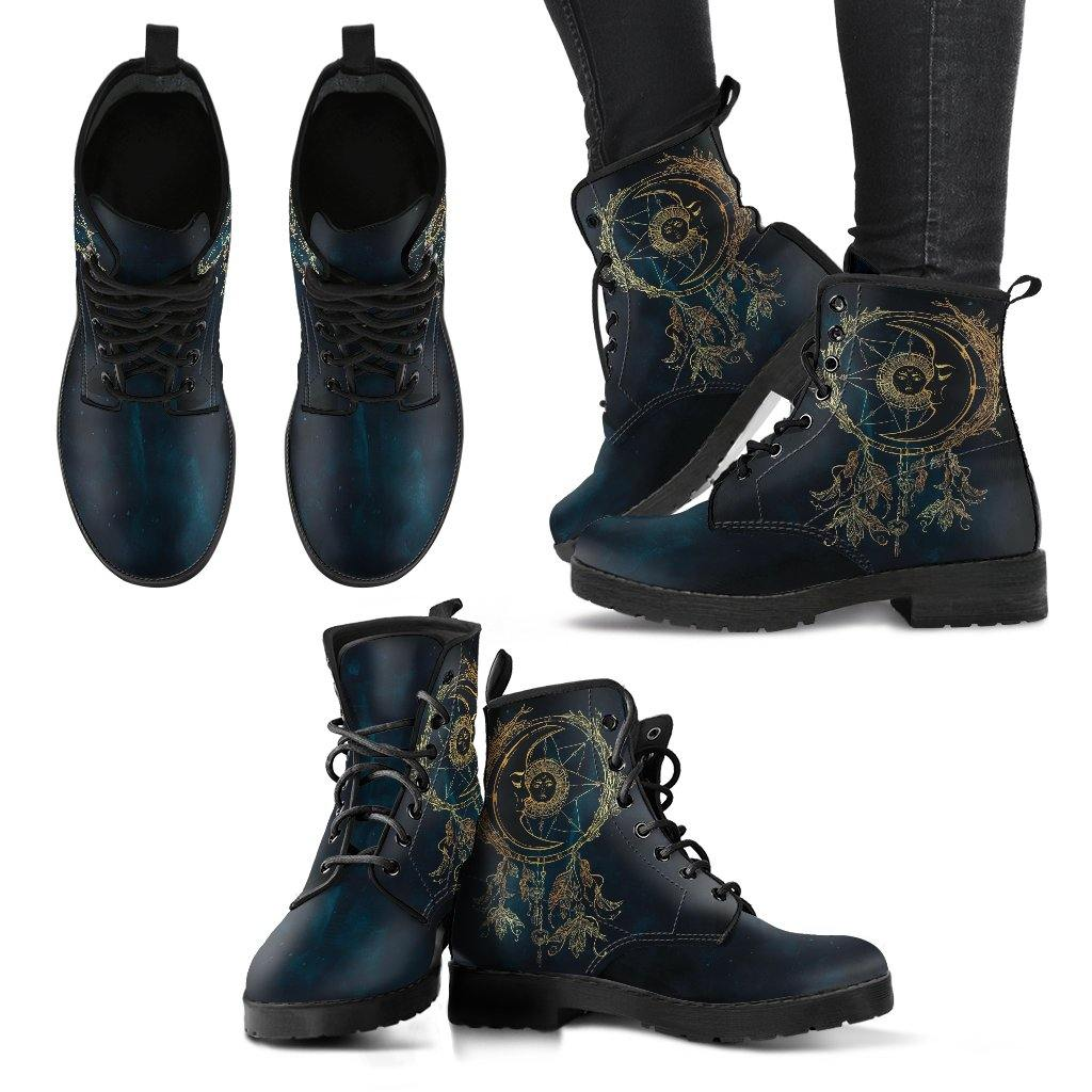 Deep Blue Moon Dreamcatcher Vegan Leather Boots