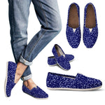 Dark Blue Casual Slip On Shoes