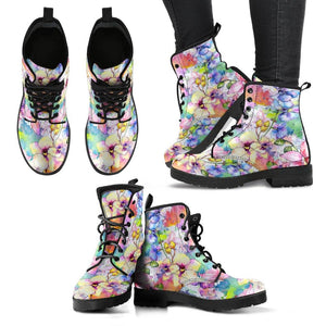 Botanical Watercolors Vegan Leather Boots