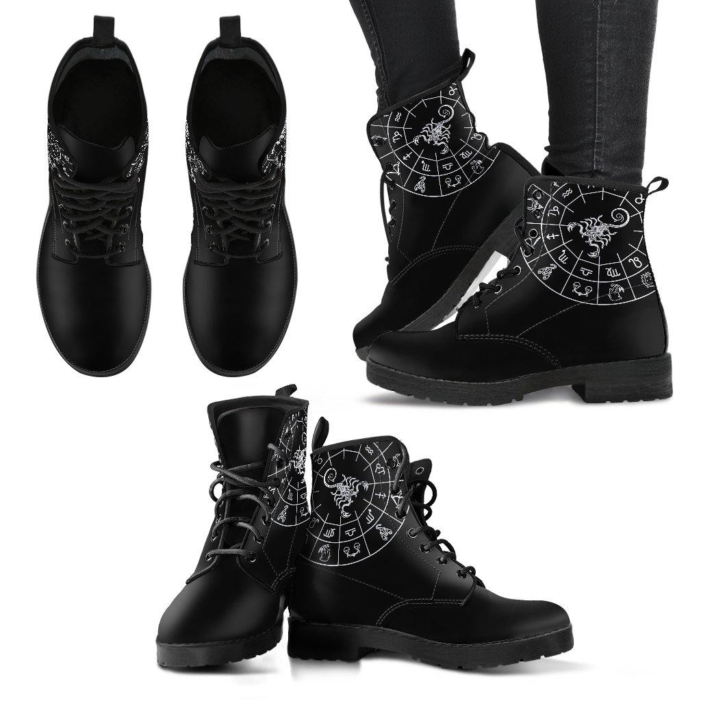 Scorpio Zodiac Vegan Leather Boots - Manifestie
