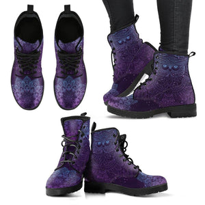 Purple Owl Vegan Leather Boots