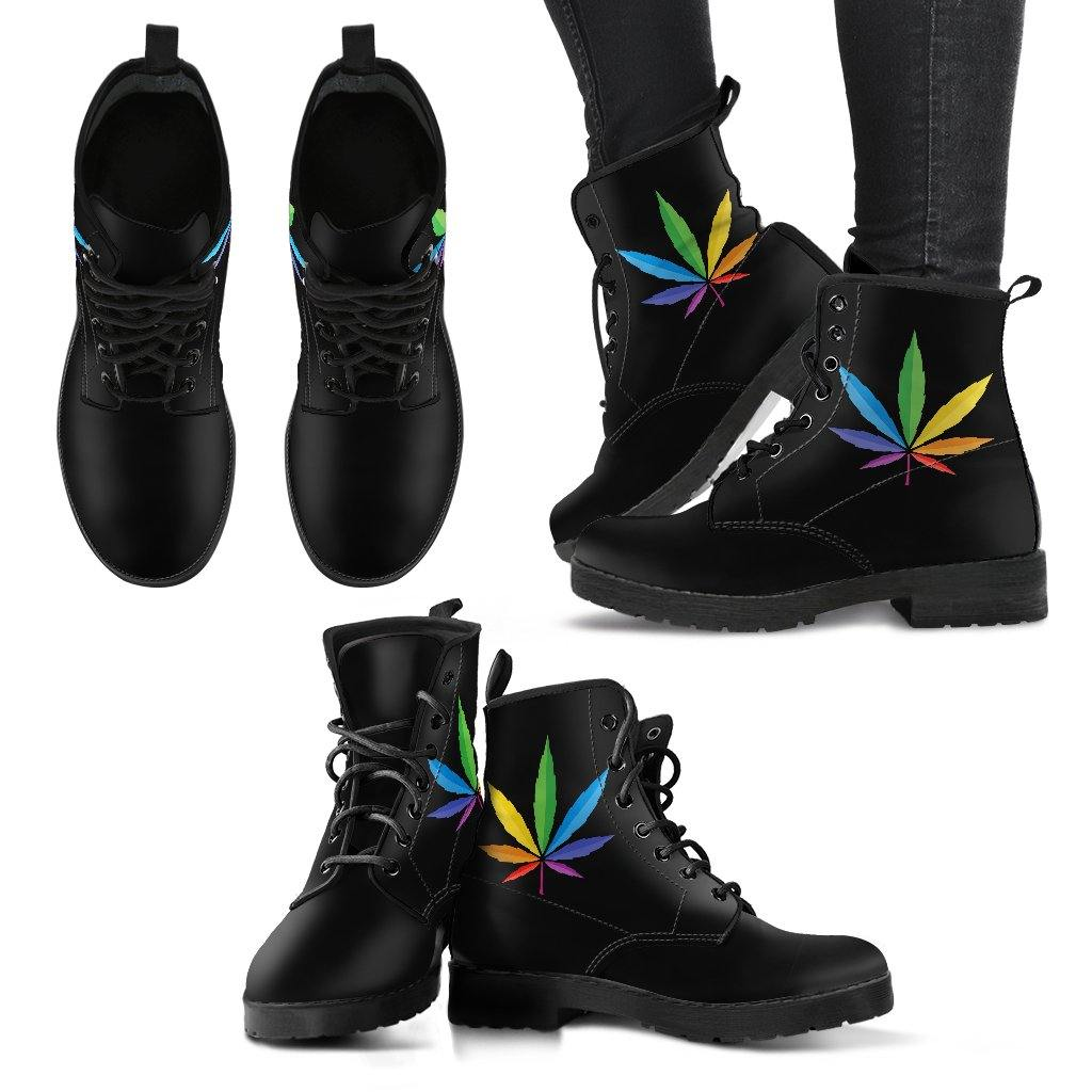 Cannabis Pride Vegan Leather Boots