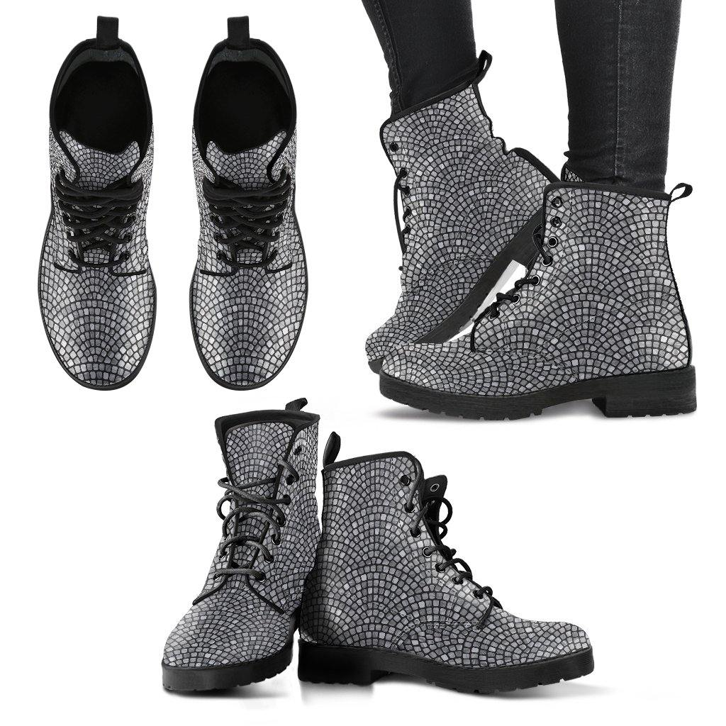 Tiled Arches Vegan Leather Boots