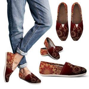 Sun and Moon Red Casual Slip On Shoes