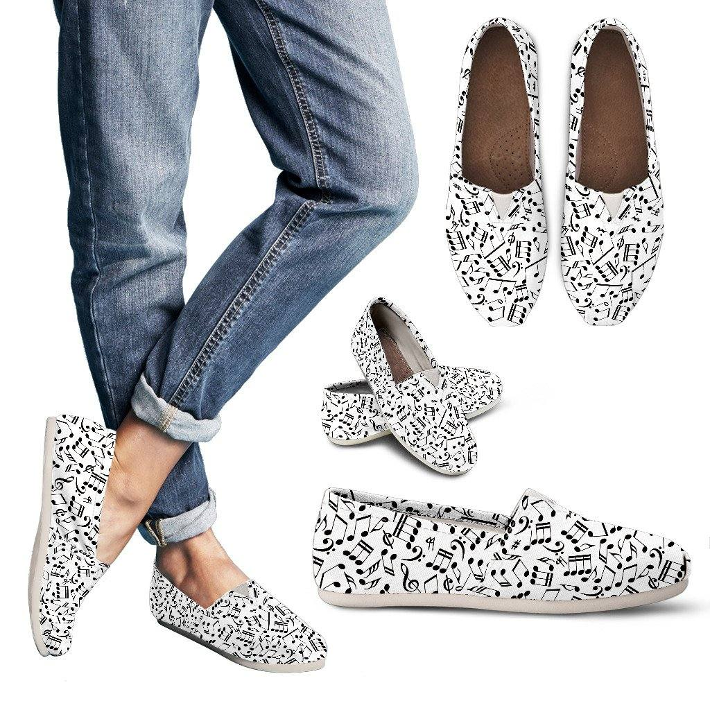Music Note Casual Slip On Shoes