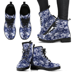 Cherry Blossom Blues Handcrafted Boots