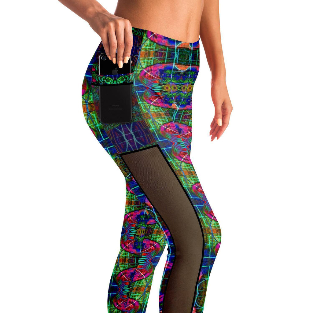 VISIONARY PREMIUM MESH POCKET YOGA LEGGINGS