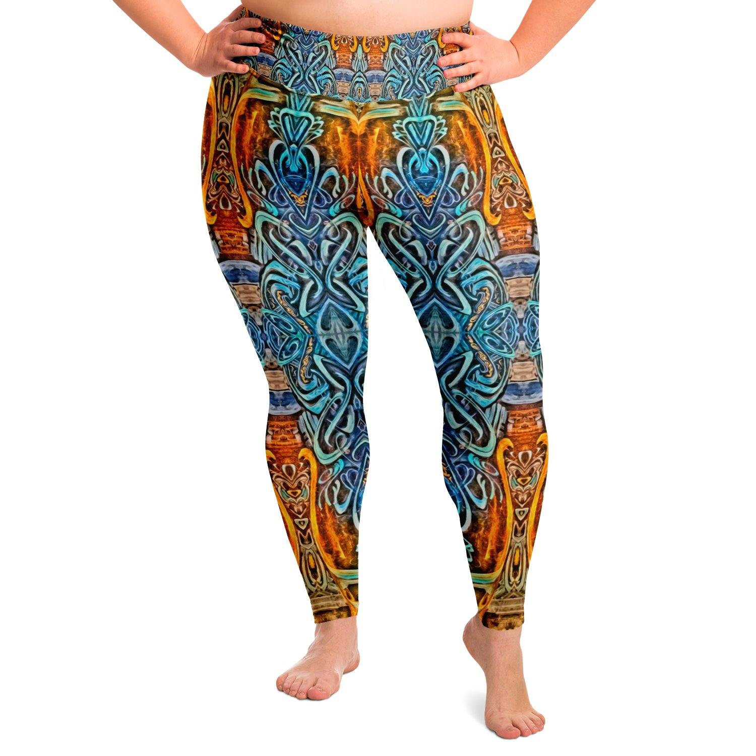 Nightspell Premium Plus Size Yoga Leggings - Manifestie