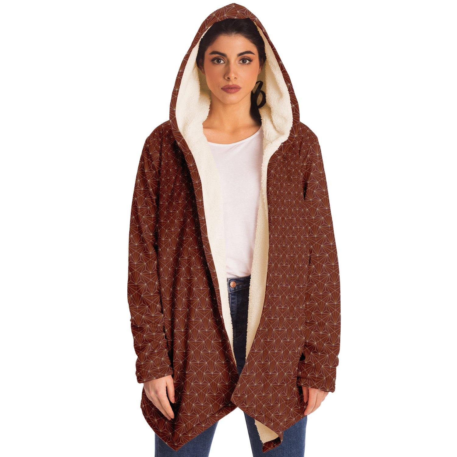 Terra Cotta Sacred Connections Premium Sherpa Cloak - Manifestie