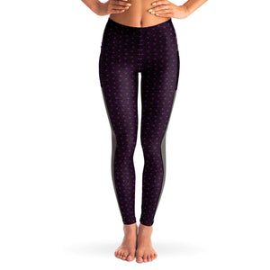 AMETHYST SACRED CONNECTIONS PREMIUM MESH POCKET YOGA LEGGINGS