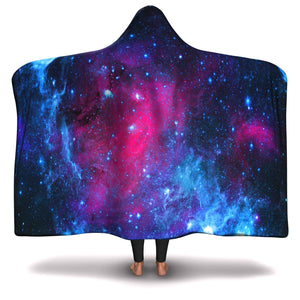 DRIFTING AWAY GALAXY PREMIUM Hooded Blanket with Wrist Straps