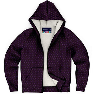 Amethyst Sacred Connections Premium Sherpa Lined Zip Hoodie