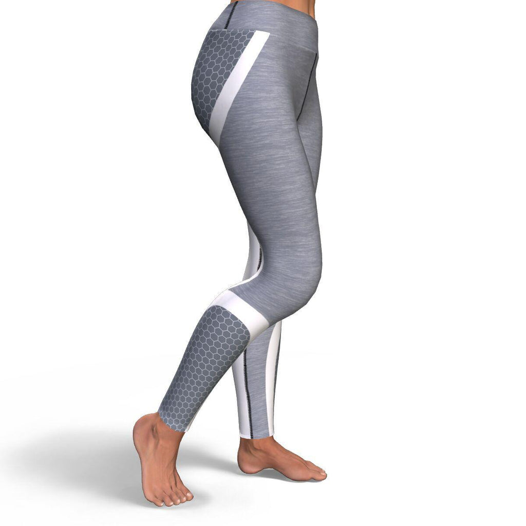 Grey Honeycomb Premium Yoga Leggings