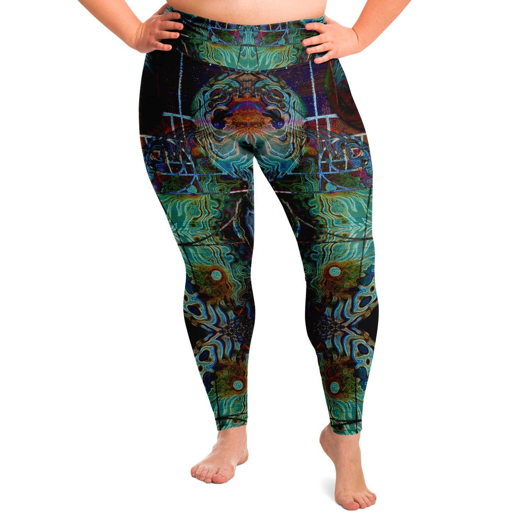 Fibonaccis Fantasy Premium Plus Size Yoga Leggings