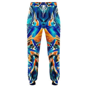 BLUE GAZE PREMIUM COTTON FEEL JOGGERS