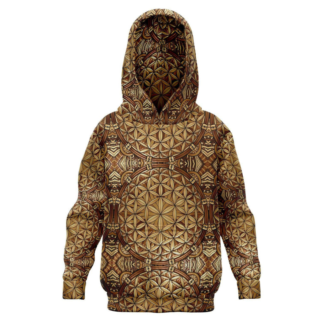 Gold Flower Of Life Premium Kids Hoodie - Manifestie