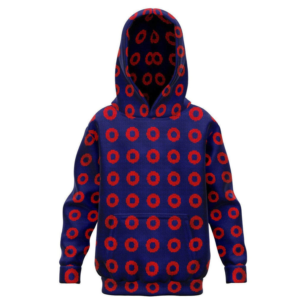 Phish Knitted Ugly Sweater Style Print | Fishman Donut | Premium KIDS HOODIE