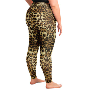 Leopard Print Premium Plus Size Yoga Leggings