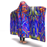 ELECTRIC FLOW PREMIUM HOODED BLANKET with WRIST STAPS