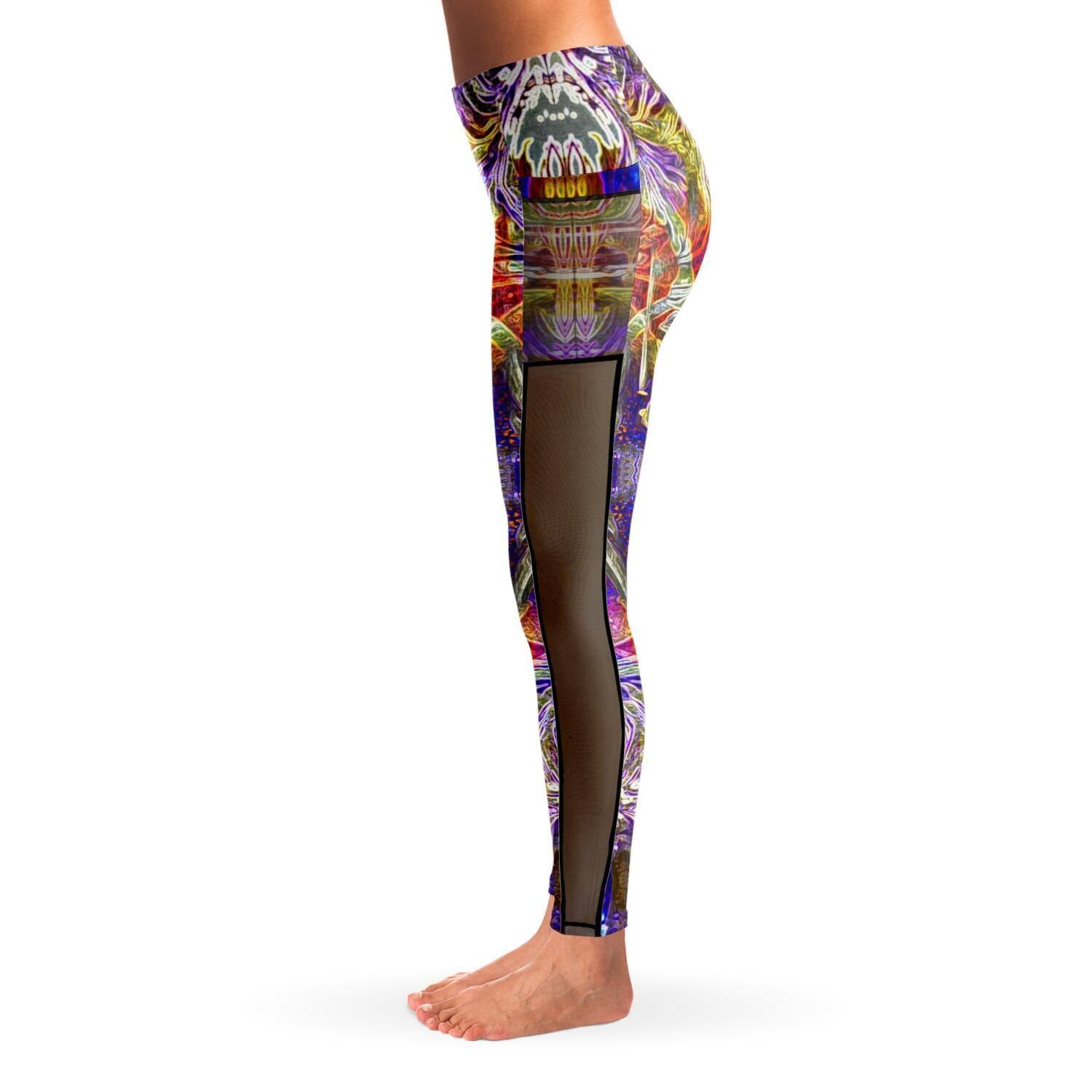NIRVANA BLISS PREMIUM MESH POCKET YOGA LEGGINGS