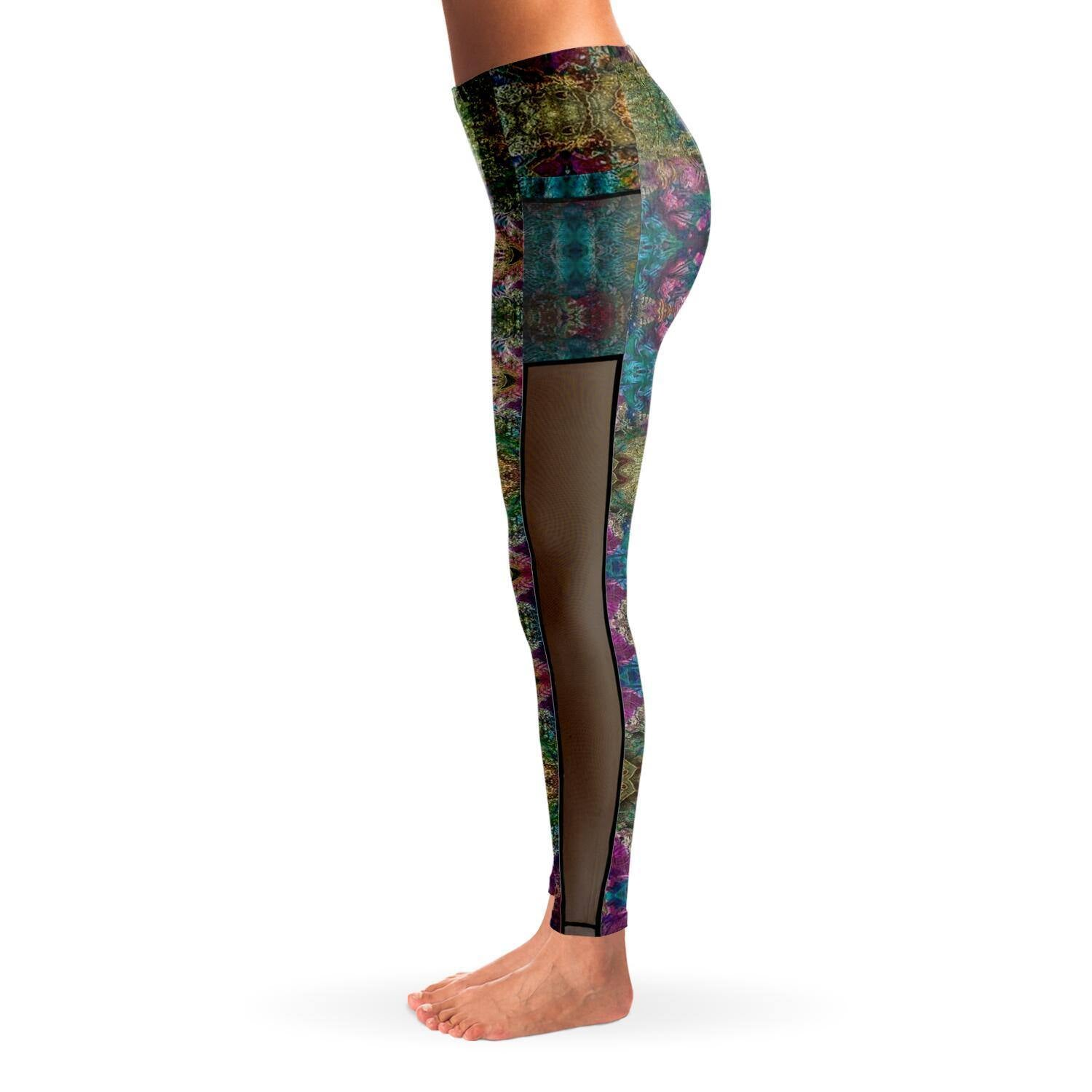 SPIRIT GUIDE PREMIUM MESH POCKET YOGA LEGGINGS